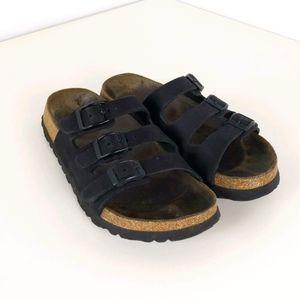 Birkenstock Betula Three Strap Leather Sandal, 36